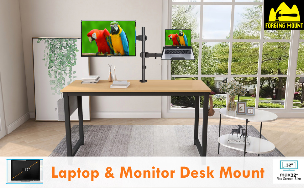 Laptop monitor mount