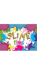 Colorful Splatter Photo Background Kid Slime Time Birthday Party Banner Backdrop