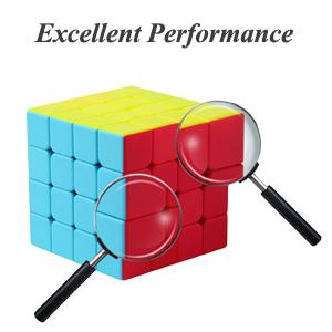 ROXENDA Speed Cube Bundle, Cubo Mágico de 2x2 3x3 4x4 5x5 Stickerless Speed Cube Juego con Caja de Regalo, Tutorial Secreto para Cubos de Velocidad