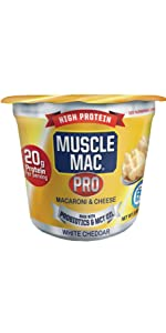 Muscle Mac PRO High Protein Macaroni amp; Cheese Easy Mac Microwavable Cups Meal Snack NON-GMO Pasta