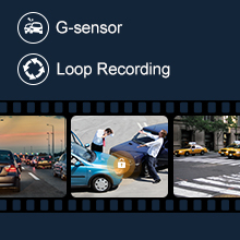 loop recording and g-sensor