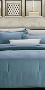 Marley 3-Piece Comforter Set, Blue