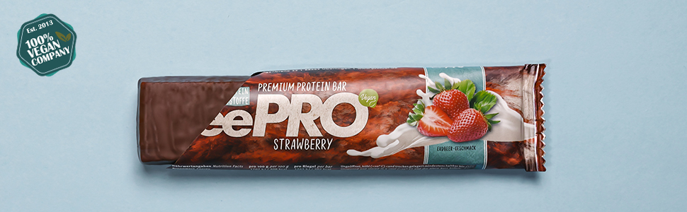 vegane Proteinriegel vegan Eiweissriegel Erdbeere - ProFuel veePRO Protein Riegel vegan