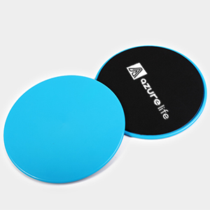 blue exercise sliders