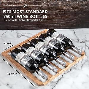 Ivation wine cooler fits 750ml bottle