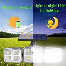 charge at daytimeCharging during the day and lighting at night