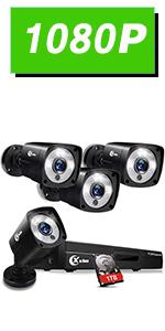 Flashandfocus.com bd601e9e-b984-42e7-b54f-8c42f2222ba4.__CR0,0,150,300_PT0_SX150_V1___ XVIM 8CH 1080P Security Camera System Home Security Outdoor 1TB Hard Drive Pre-Install CCTV Recorder 4pcs HD 1920TVL…