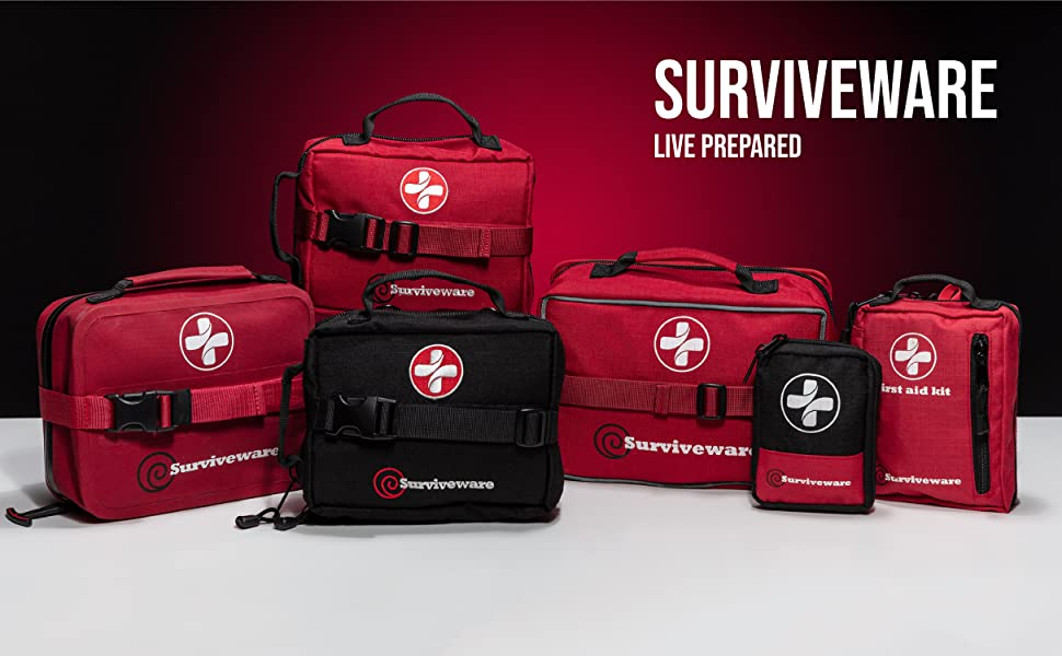 Let the adventure find you with the Surviveware Large First Aid Kit for camping and hiking