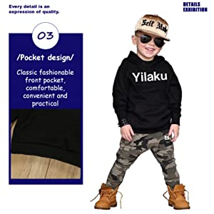 Kids Toddler Boys Handsome Black Blouse Tshirt+ Gray Casual Pants Outfits