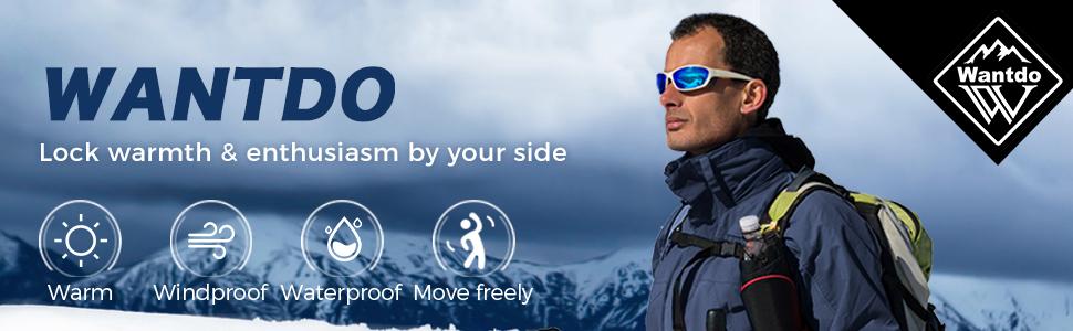 Wantdo Men's Waterproof 3 in 1 Ski Jacket