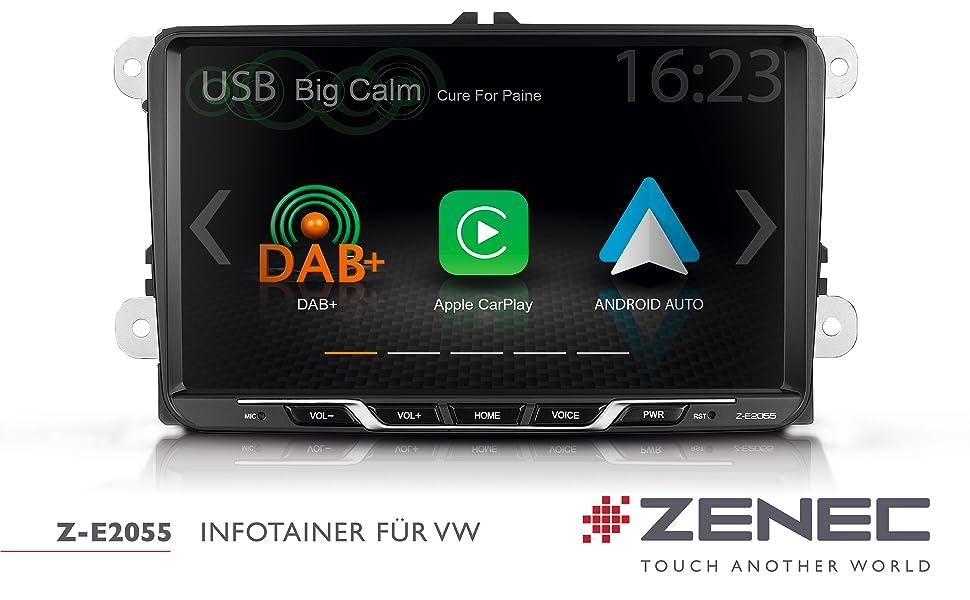 Fahrzeugspezifisches Autoradio für VW, SEAT und SKODA mit Apple CarPlay und Android Auto
