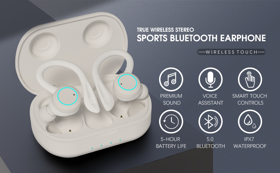 True wireless earbuds support touch control