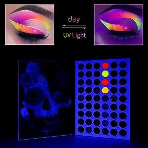 UV gow in the dark eyeshadow