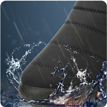 Winter Snow Boots Mens Warm Ankle Bootie Anti-Slip Fur Lined Waterproof Slip On Outdoor Shoes