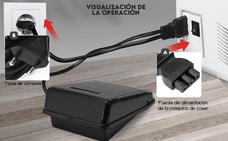DIYARTS - Pedal de Control para Máquina de Coser, Control ...