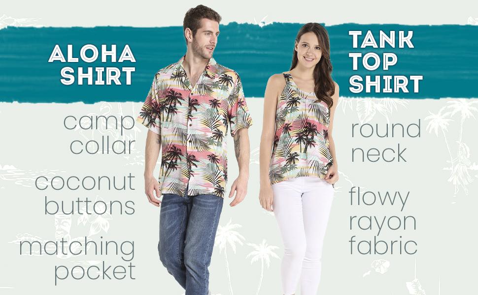 Hawaii Hangover Couples Matching Men's Aloha Shirt Women's Jumpsuit Hawaiian Style