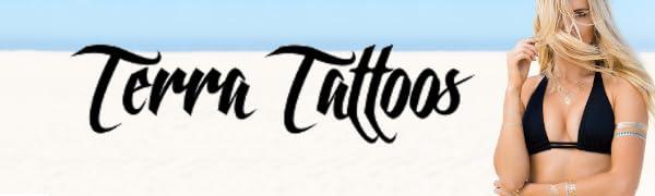 Terra Tattoos temporary metallic tattoos