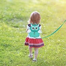 Owl backpack + leash.