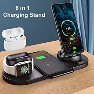6 in 1 charging stand