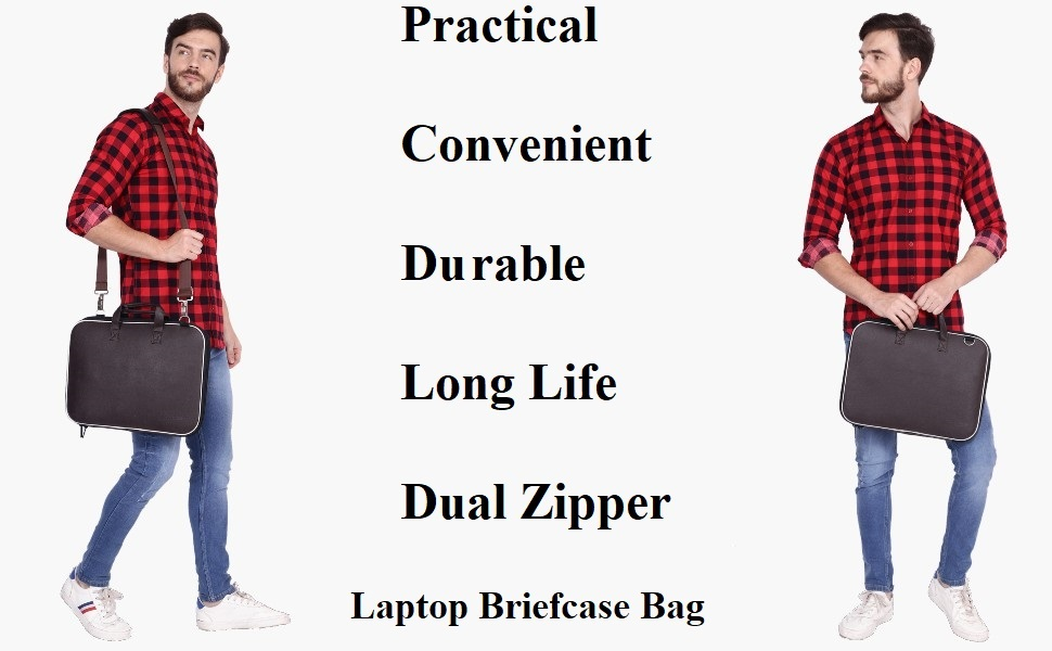 Wearslim Cady Collection Durable Briefcase Carrying Case for 15.6 in Laptops & Notebooks bag