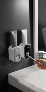 Grey Toothpaste dispenser