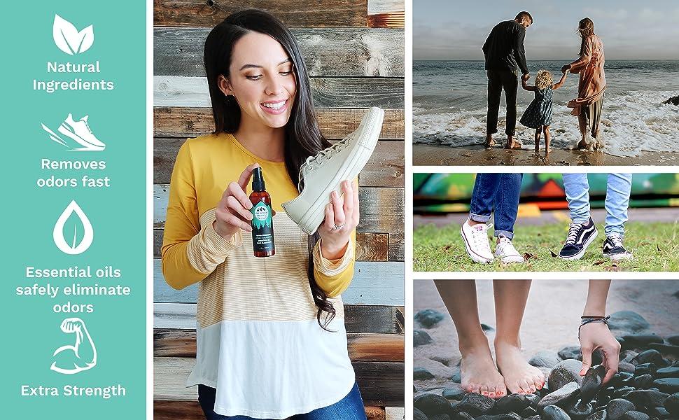 natural shoe deodorizer spray essential oil odor eliminator lumi outdoors