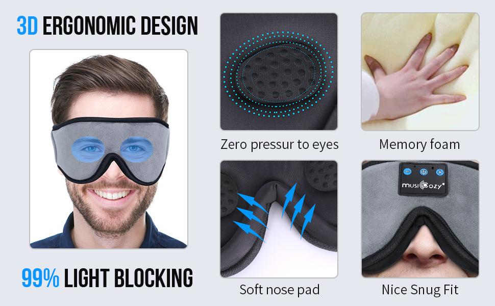 bluetooth sleeping mask bluwtooth eye mask bluwtooth sleep headphones