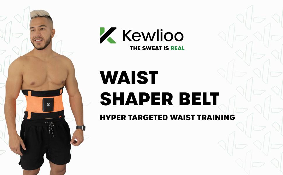 Kewlioo Men's Waist Trimmer Shaper Belt Waist Trainer for Increased Sweat and Back Support