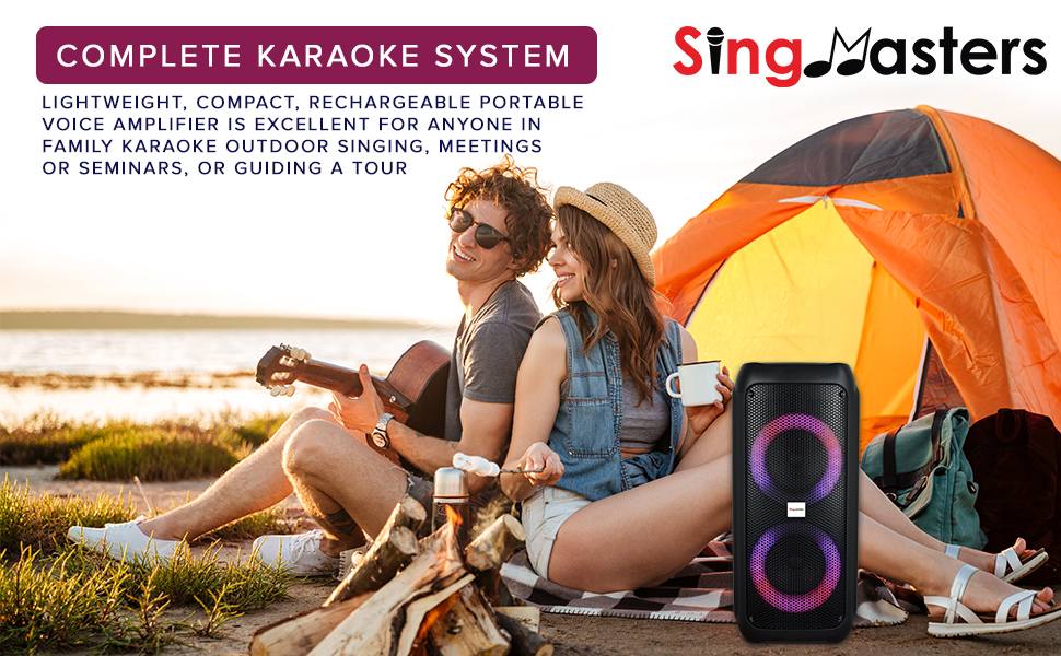 karaoke party speaker singmasters bluetooth portable