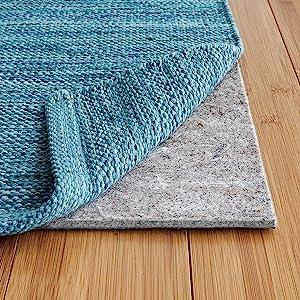 1/8 inch felt + rubber rug pad