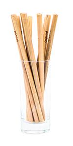 Bambus Strohhalme ohne Plastik