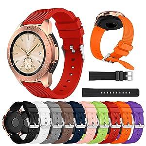 XIHAMA Correa Compatible con Samsung Galaxy Watch 42mm, Recambio de Silicona Bracelet Compatible con Smartwatch Samsung Galaxy Watch 42mm (46mm, ...