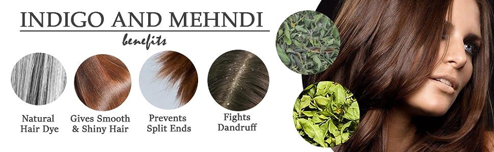 BENEFITS OF INDIGO AND MEHNDI POWDER
