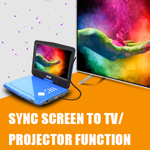 Sync your pictures or movies on large screens thanks to included AV cable & Remote Control