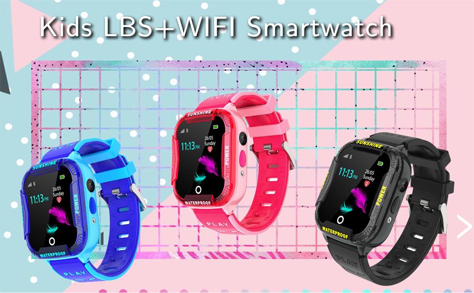 Kids Smartwatch phone GPS tracker wifi boys girls gift