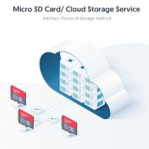 Micro SD card/Cloud storage