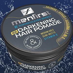pomade wax styling paste white hair nourishing protecting natural-looking non-bleeding men gift dad
