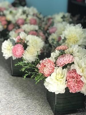 """floral arrangement glass vase handmade clear 3"""" 4"""" planter terrarium set square cube"""