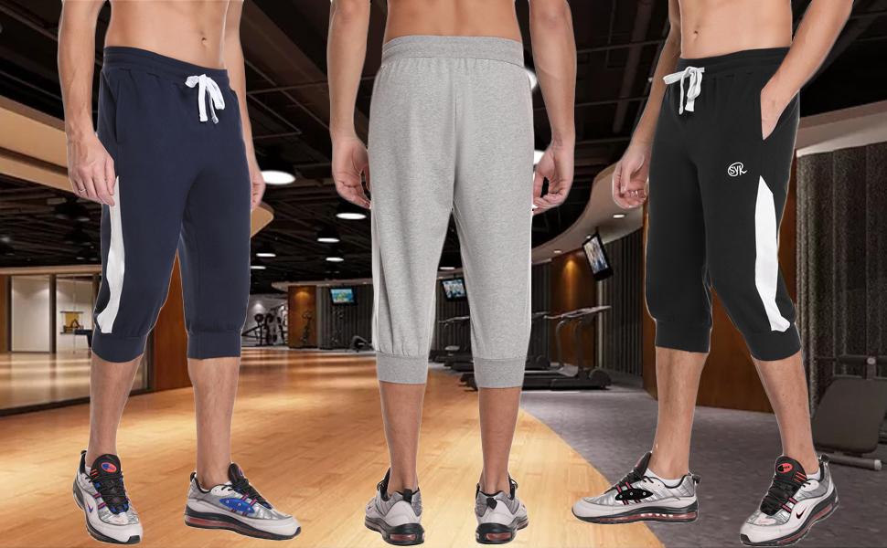 men s 3/4 length shorts