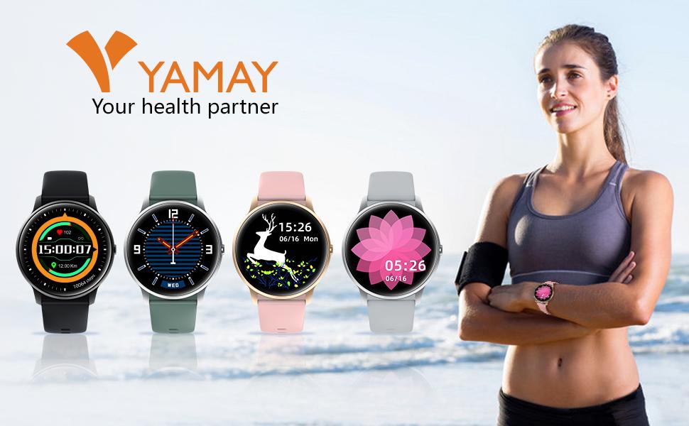 YAMAY Smartwatch Bambini Orologio Fitness Impermeabile IP68 Centinaia di Quadranti per Android iOS