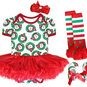 FANCYINN Vetidos Navidad Niña Tutu Falda Conjuntos Ropa Bebe Set ...