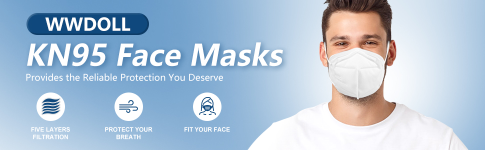 WWDOLL KN95 Face Masks, provide comfortable breathing and pleasurable use experience.