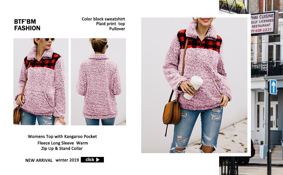Womens fashion casual pullover sweatshirts