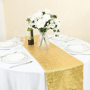 gold runners for rectangular tables