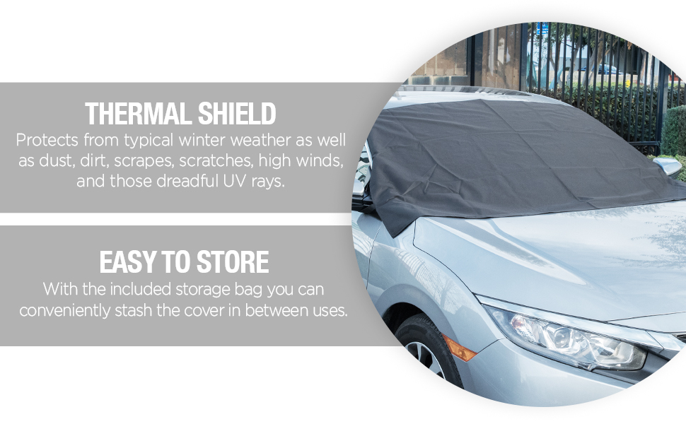 OxGord Windshield Snow Cover Ice Removal Wiper Visor Protector