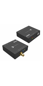 HDMI over coaxial cable extender gofanco 1080p 394ft