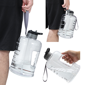 large water bottle with handle strap