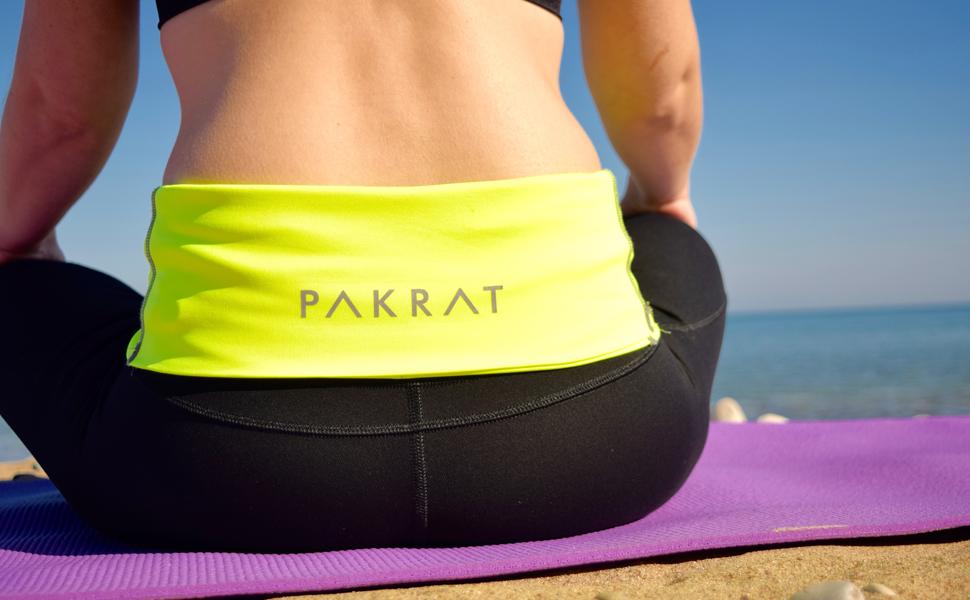 Fanny Pack for Jogging Holds Phone Money PakRat Running Belt Waist Pack Runners Fold Over Belt Exercise or Travel Keys