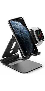 Portable amp; Foldable stand for smartphone and iOS smartwatches