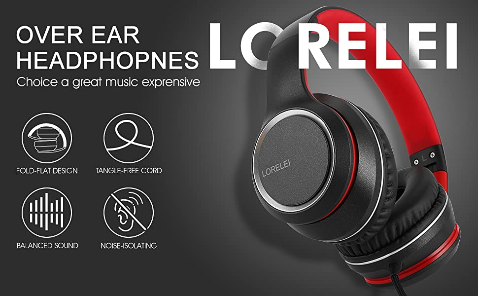 X8 Black-red headphones